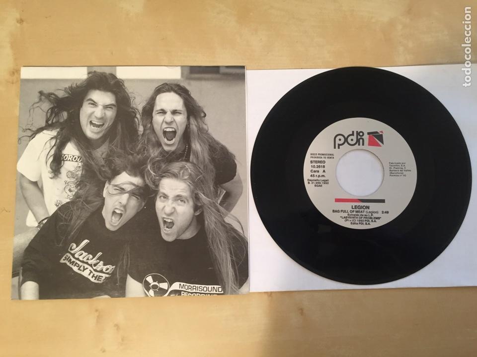 "LEGION - BAG FULL OF MEAT - SINGLE 7"" PROMO - 1992 (Música - Discos - Singles Vinilo - Heavy - Metal)"