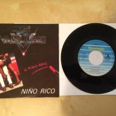 """Discos de vinilo: 16 VARILLAS - A TODO GAS / NIÑO RICO - SINGLE 7"""" - 1992. Lote 249537670"""