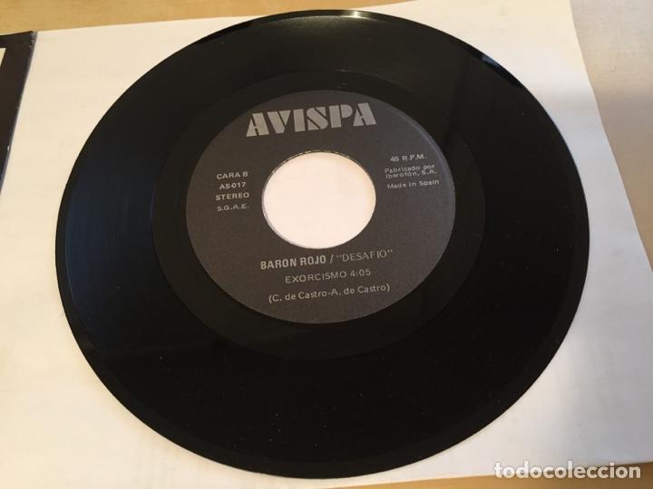 """Discos de vinilo: Baron Rojo - Desafío - SINGLE 7"""" PROMO - 1992 - Foto 4 - 249549340"""