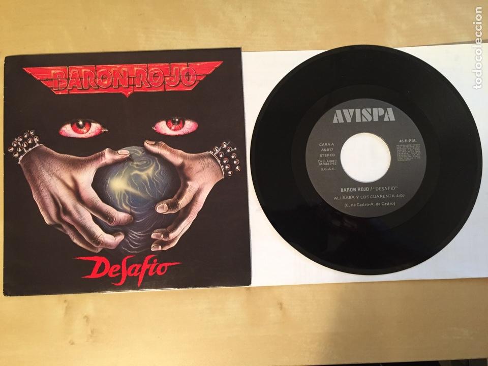 "BARON ROJO - DESAFÍO - SINGLE 7"" PROMO - 1992 (Música - Discos - Singles Vinilo - Heavy - Metal)"