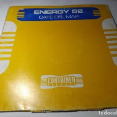 Disques de vinyle: MAXI - ENERGY 52 ‎– CAFÉ DEL MAR - NM7034MX ( G+ / G+) SPAIN 1997 ( GALLETA A CON PEGATINA). Lote 249560030