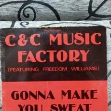 Discos de vinilo: C&C MUSIC FACTORY - GONNA MAKE YOU SWEAT. Lote 249570650