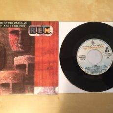 """Discos de vinilo: R.E.M. - IT'S THE END OF THE WORLD AS WE KNOW IT - SINGLE 7"""" - 1992 ESPAÑA REM. Lote 249583430"""