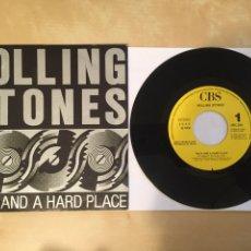 "Discos de vinilo: THE ROLLING STONES - ROCK AND A HARD PLACE - SINGLE PROMO 7"" - 1989 ESPAÑA. Lote 249584300"