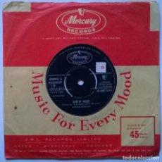 Discos de vinilo: BROOK BENTON. HURTIN' INSIDE/ IT'S JUST A MATTER OF TIME. MERCURY, UK 1959 SINGLE BLUES. Lote 249592405