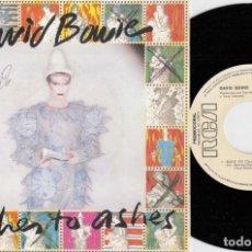 Disques de vinyle: DAVID BOWIE - ASHES TO ASHES - SINGLE DE VINILO EDICION ESPAÑOLA PROMOCIONAL. Lote 250131460