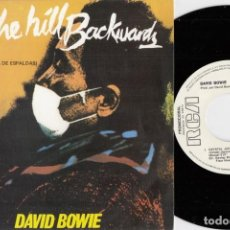 Disques de vinyle: DAVID BOWIE - UP TO THE HILL BACKWARDS - SINGLE DE VINILO EDICION ESPAÑOLA PROMOCIONAL. Lote 250134520