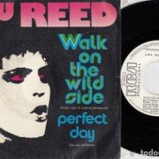 Discos de vinilo: LOU RED - WALK ON THE WILD SIDE - SINGLE DE VINILO EDICION ESPAÑOLA PROMOCIONAL. Lote 250136130