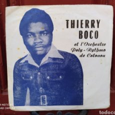 Discos de vinilo: THIERRY BOCO ETL'ORCHESTRE POLY-RYTHMO DE COTONOU–DIVORCE DE CECILIA SINGLE ORIGINAL BENIN.. Lote 250137020