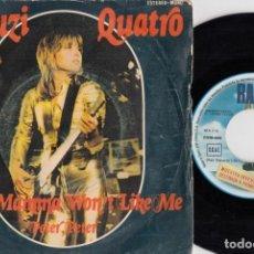 Discos de vinil: SUZI QUATRO - YUR MAMA WON'T LIKE ME - SINGLE DE VINILO EDICION ESPAÑOLA. Lote 250139690