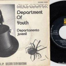 Disques de vinyle: ALICE COOPER - DEPARTMENT OF YOUTH - SINGLE DE VINILO EDICION ESPAÑOLA PROMOCIONAL. Lote 250140815