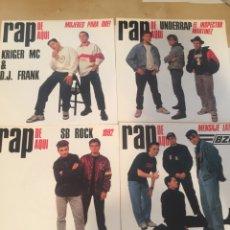 Discos de vinil: VARIOS - LOTE 4 SINGLES RAP DE AQUI 1990 ESPAÑA. Lote 250145945