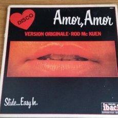 Discos de vinilo: *ROD MC KUEN - SLIDE...EASY IN. (AMOR, AMOR) VERSIÓN ORIGINALE - LP AÑO 1977 - LEER DESCRIPCIÓN. Lote 250149030