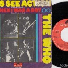 Disques de vinyle: THE WHO - LET'S SEE ACTION - SINGLE DE VINILO EDICION ESPAÑOLA. Lote 250150960