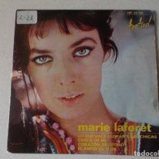 Discos de vinilo: MARIE LAFORÊT, EP, LO QUE HACE LLORAR A LAS CHICAS + 3, AÑO 1964. Lote 250161030