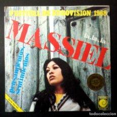 Discos de vinilo: MASSIEL - LA, LA, LA / PENSAMIENTOS - SINGLE 1968 - NOVOLA (EUROVISION). Lote 250176880