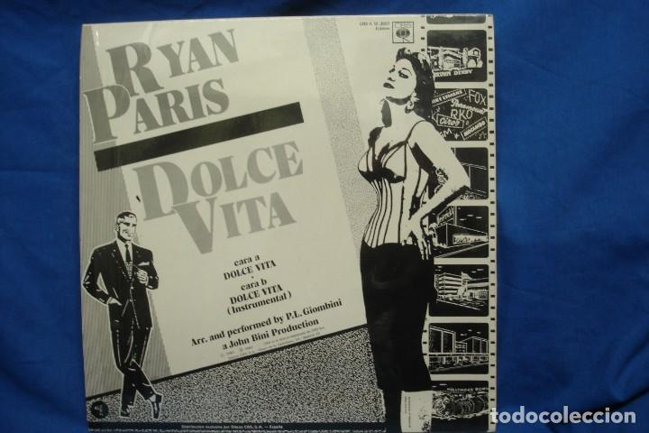 Discos de vinilo: RYAN PARIS - DOLCE VITA - SUPERSINGLE - CBS 1983 - Foto 2 - 250252205