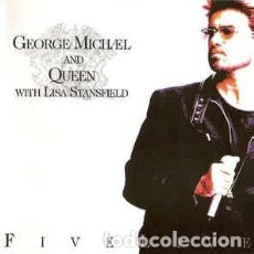 Discos de vinilo: GEORGE MICHEL AND QUEEN-WITH LISA STANSFIELD-FIVE LIVE-EP-ED. INGLESA. Lote 250255140