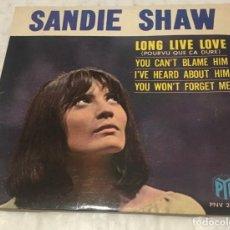 Discos de vinil: EP SANDY SHAW - LONG LIVE LOVE Y OTROS TEMAS - VOGUE PYE PNV24145 - PEDIDOS MINIMO 7€. Lote 250271730