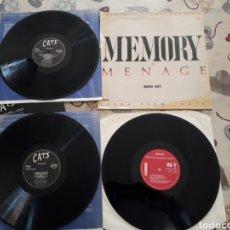 Discos de vinilo: LOTE. 2 MAXI SINGLE.MENAGE MEMORY DEL MUSICAL CATS Y 2LP MUSICAL CATS.ORIGINAL.COMO NUEVOS. Lote 250286775