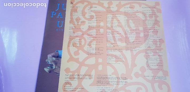 Discos de vinilo: LP-JUAN PARDO-UNO ESTÁ SOLO-1990-VER FOTOS - Foto 11 - 250313735