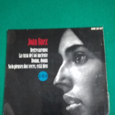 Discos de vinilo: JOAN BAEZ REGRESAREMOS + 3. EP HISPAVOX.. Lote 250325505