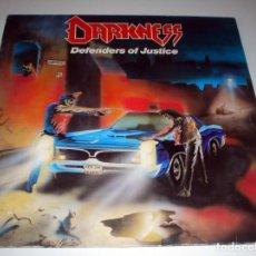 Discos de vinilo: LP DARKNESS - DEFENDERS OF JUSTICE. Lote 99461547