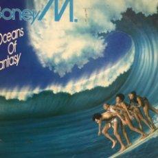 Discos de vinilo: BONEY M. OCEANS OF FANTASY. LP ENCARTE LETRAS DOBLE POSTER INCREIBLE ARIOLA 1ERA ED 79. Lote 251041090