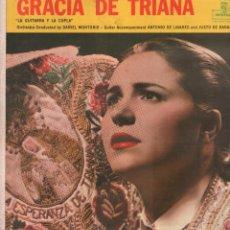 Disques de vinyle: GRACIA DE TRIANA - LA GUITARRA Y LA COPLA / LP MONTILLA / BUEN ESTADO RF-9337. Lote 251063055