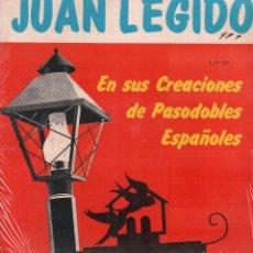 Disques de vinyle: JUAN LEGIDO - EN SUS CANCIONES DE PASODOBLES ESPAÑOLES / LP RARO / BUEN ESTADO RF-9339. Lote 251063375