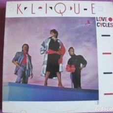 Disques de vinyle: LP - KLIQUE - LOVE CYCLES (USA, MCA RECORDS 1985). Lote 251064885