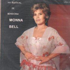 Discos de vinilo: MONA BELL - LV FESTIVAL DE LA CANCION DE BENIDORM / LP HISPAVOX - RARO / BUEN ESTADO RF-9352. Lote 264972994