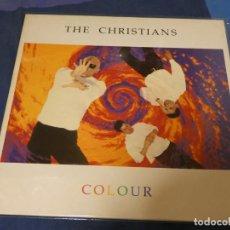 Discos de vinilo: LP THE CHRISTIANS COLOUR LEVES SEÑALES DE USO ACEPTABLE. Lote 251071520