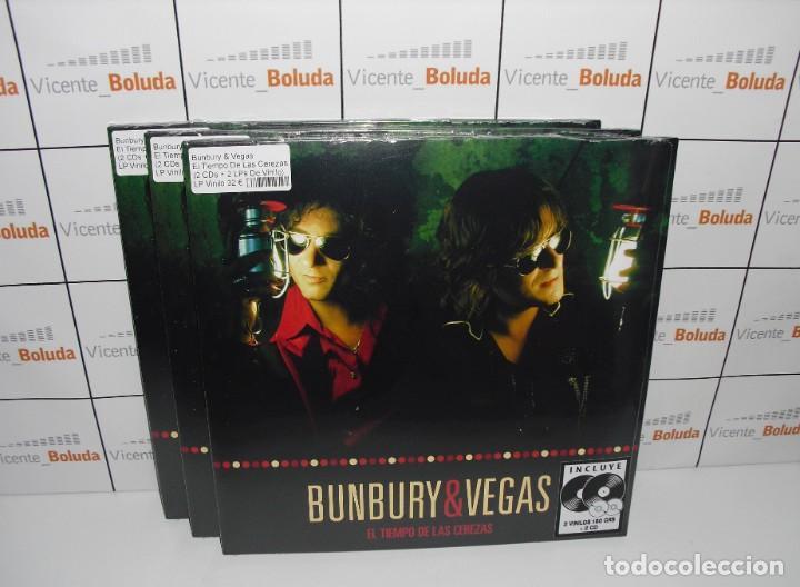 BUNBURY & VEGAS - EL TIEMPO DE LAS CEREZAS (2 LPS + 2 CDS) ENVIÓ CERTIFICADO A ESPAÑA 3 € (Música - Discos - LP Vinilo - Grupos Españoles de los 90 a la actualidad)