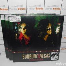 Disques de vinyle: BUNBURY & VEGAS - EL TIEMPO DE LAS CEREZAS (2 LPS + 2 CDS) ENVIÓ CERTIFICADO A ESPAÑA 3 €. Lote 268769859