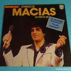 Discos de vinilo: ENRICO MACIAS. OLYMPIA 80. LE JUIF ESPAGMOL. PHILIPS 1980. FRANCIA. Lote 251117865
