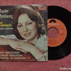 Dischi in vinile: SINGLE MARIE MYRIAM - A AVE E A INFÂNCIA - POLYDOR 2056 653 - PORTUGAL (VG++/NM) EUROVISION 77. Lote 251152405