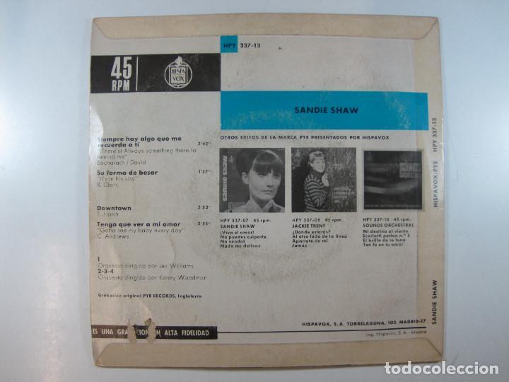 Discos de vinilo: EP Sandie Shaw, Los grandes éxitos de · Siempre hay algo que me recuerda a tí + 3 (1965) (RARO) - Foto 2 - 251156280
