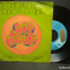 Discos de vinilo: SINGLE EMI 1974 JOSÉ AUGUSTO. DE QUÉ VALE TENER TODO EN LA VIDA. LA CALLE EN QUE TÚ VIVÍAS.PEPETO. Lote 251171750