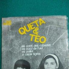 Discos de vinilo: QUETA & TEO. ES CORET DES COTXETET + 3 EP EDIGSA 1964. Lote 251174125