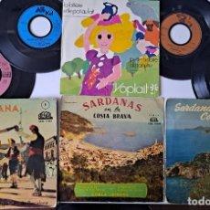 """Discos de vinilo: LOTE DE 8 DISCOS DE VINILO, EP Y 7"""" . SARDANAS Y DISCOS FRANCESES. Lote 251200025"""