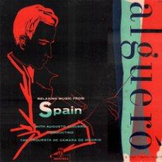 Discos de vinilo: ALGUERÓ - RELAXING MUSIC FROM SPAIN / LP MONTILLA / BUEN ESTADO RF-9380. Lote 251253690