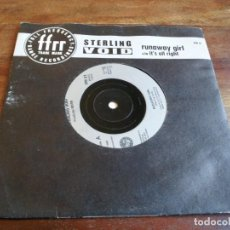Discos de vinilo: STERLING VOID - RUNAWAY GIRL, IT'S ALL RIGHT - SINGLE ORIGINAL MERCURY AÑO 1988 EDICION INGLESA. Lote 251256570