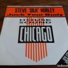 Discos de vinilo: STEVE SILK HURLEY - JACK YOUR BODY, DUB YOUR BODY - SINGLE ORIGINAL LONDON AÑO 1985 EDICION INGLESA. Lote 251259675