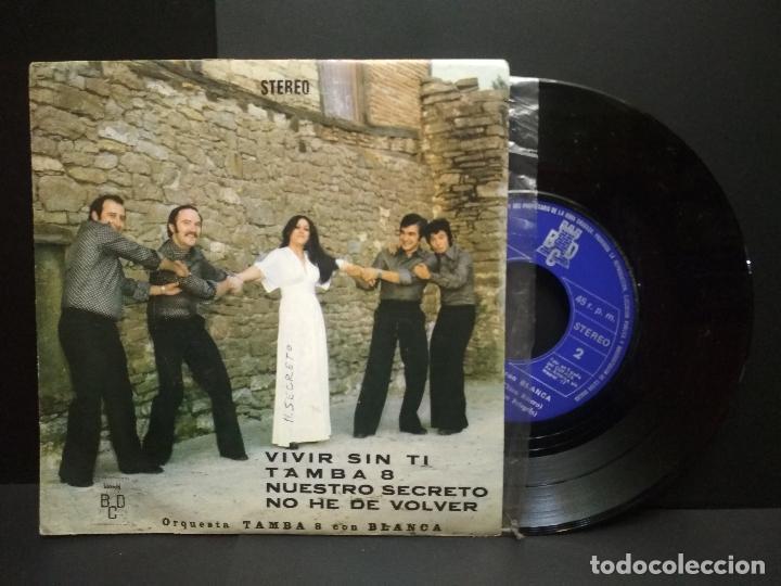ORQUESTA TAMBA 8 CON BLANCA - VIVIR SIN TI + 3 (EP DE 4 CANCIONES) BCD 1976 -PROMO PEPETO (Música - Discos de Vinilo - EPs - Grupos Españoles de los 70 y 80)