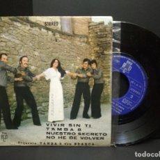 Discos de vinilo: ORQUESTA TAMBA 8 CON BLANCA - VIVIR SIN TI + 3 (EP DE 4 CANCIONES) BCD 1976 -PROMO PEPETO. Lote 251267805