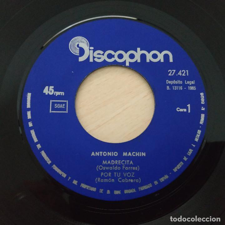 Discos de vinilo: ANTONIO MACHIN - MADRECITA - ESPAÑA - POR TU VOZ - DELICADA MELODIA - EP DISCOPHON 1965 BUEN ESTADO - Foto 3 - 251275785