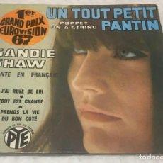 Discos de vinilo: EP SANDIE SHAW EUROVISION 1967 - J'AI RÊVÉ DE LUI Y OTROS TEMAS - PYE PNV24186 -PEDIDOS MINIMO 7€. Lote 251281155