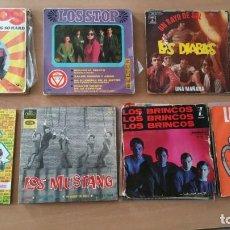 Discos de vinilo: LOTE 38 EP Y SINGLES LOS BRAVOS LOS SIREX CANARIOS LOS DIABLOS MUSTANG MISMOS STOP MODULOS BRINCOS. Lote 251292985