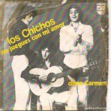 Disques de vinyle: LOS CHICHOS,NO JUEGUES CON MI AMOR DEL 75. Lote 251312405